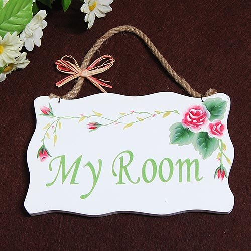 New Free Shipping Garden Style Colorful My Room Sign Door