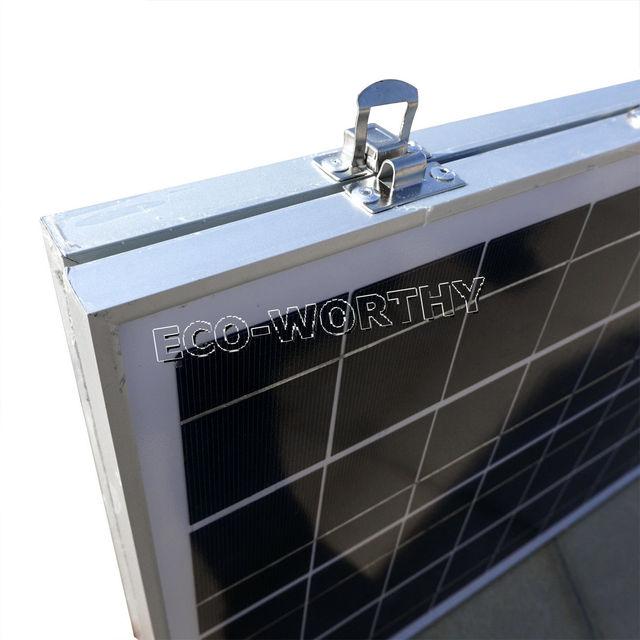 50W 18V Poly Folding Foldable Solar Panel  for  12v battery,  car, RV,camping,boat,free shipping