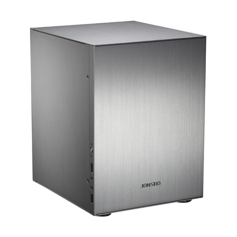 Jonsbo C2 Aluminum Computer Case Desktop PC Chassis for Mini ITX microATX for 170*170mm/245*215mm Motherboard Black/ Silver