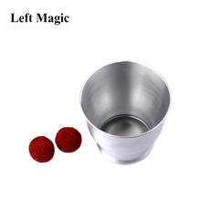 Aluminum Chop Cup (Large Size,Silver) - Magic Tricks Deluxe Wide Mouth And Balls Close Up Props Magnetic Mentalism