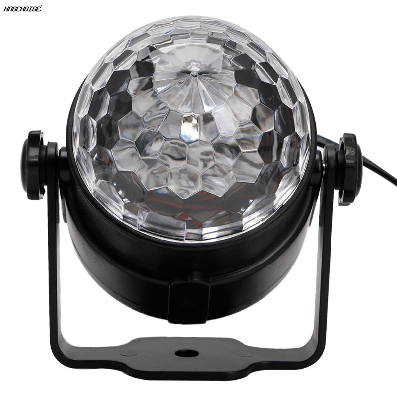 Ir Remote Rgb Led Crystal Magic Rotating Ball Stage Light Colorful Dj Light