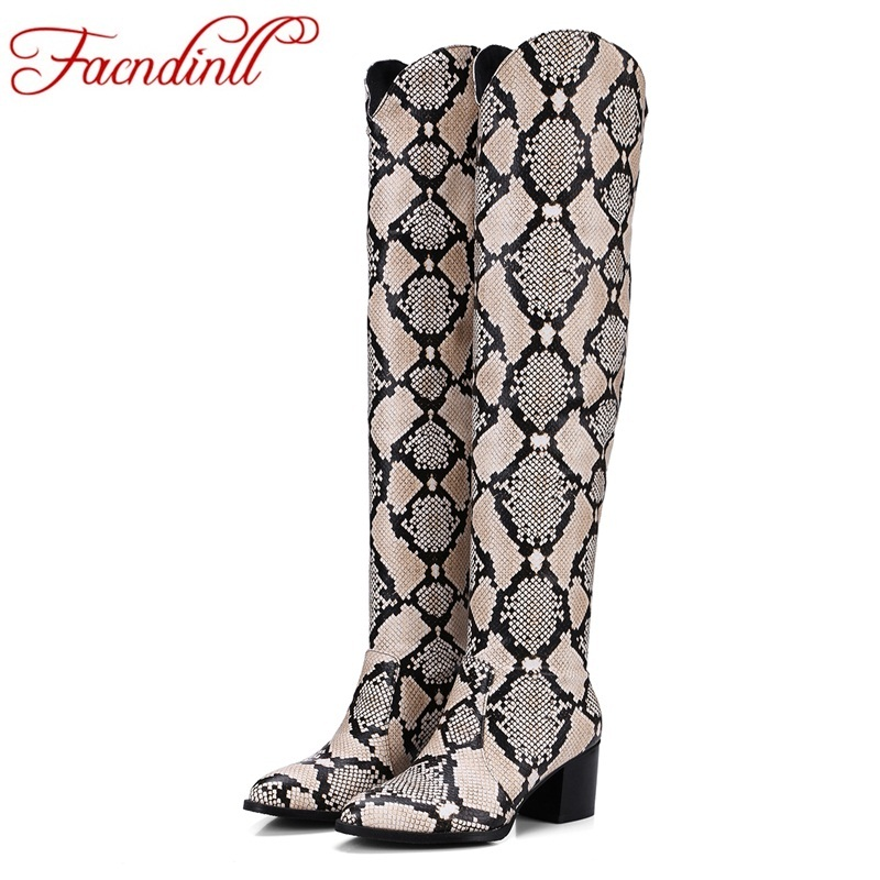 women long boots shoes 2017 fashion high qulaity high heels square toe shoes woman over the knee high boots autumn winter shoes