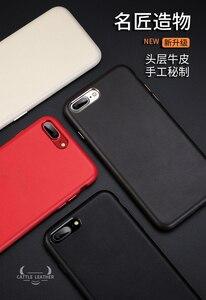Image 5 - Dla iphone 7 7 Plus skórzane etui z bydła 100% oryginalne etui z prawdziwej skóry Duzhi dla iphone 7 8 odporne na wstrząsy skórzane etui