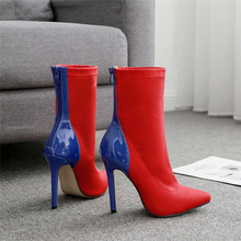 High Heels Fetish Silk Sock Boots