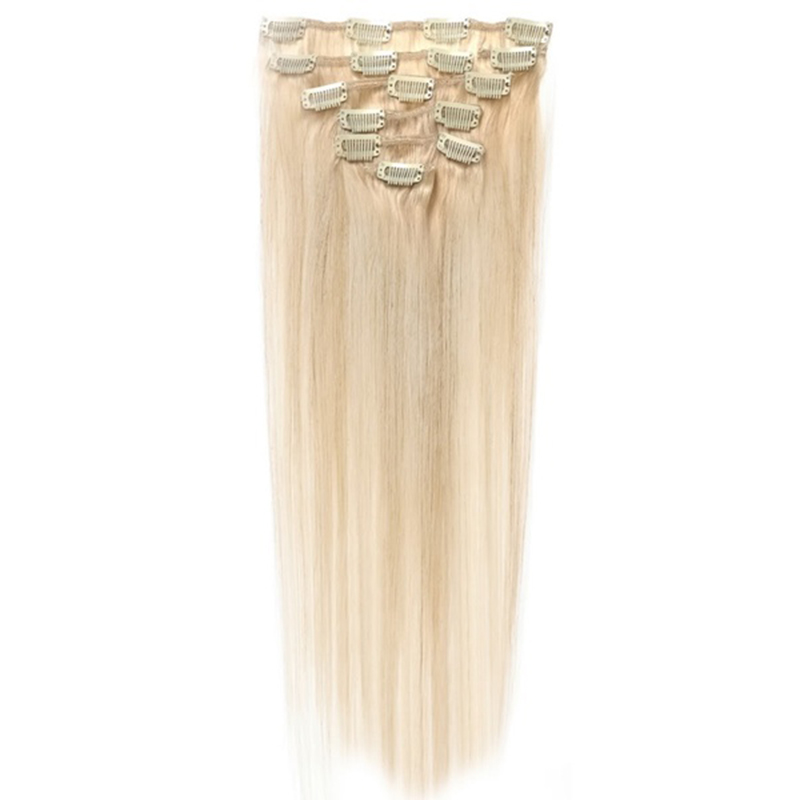 Best Sale Women Human Hair Clip In Hair Extensions 7pcs 70g 15inch Gold-brown