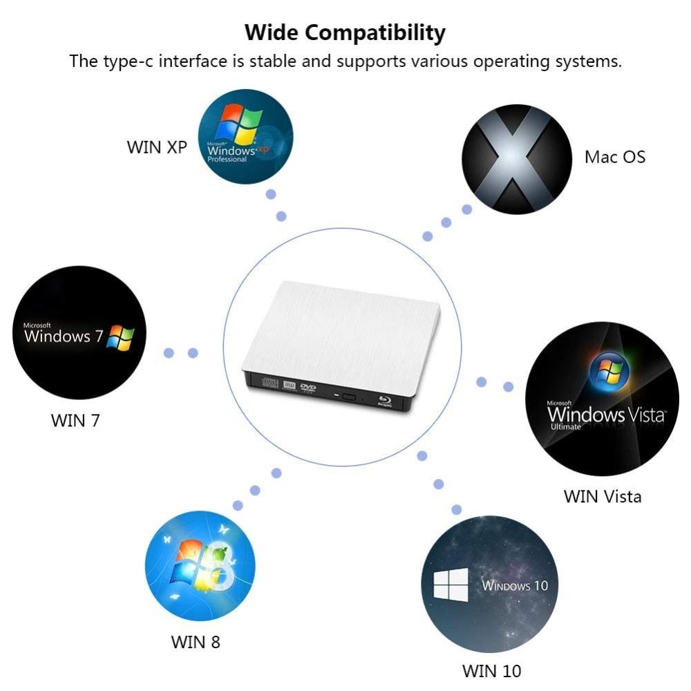 Bluray Player Unidad óptica externa USB 3.0 Blu-ray Grabadora - Componentes informáticos - foto 6
