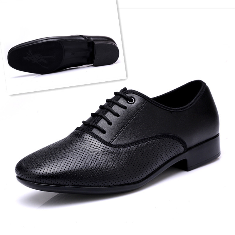 Sneakers Men Modern Dance Shoes For Men Stage Latin Sports Shoes Leather Men Square Dance Ballroom National Standard Dance Shoes