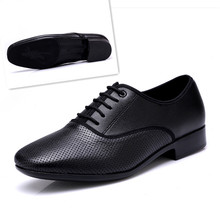 Sneakers Men Modern Dance Shoes For Stage Latin Sports Leather Square Ballroom National Standard