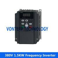 AC Drive 1.5KW 380V 3.7A 1500watt VFD inverters frequency converters