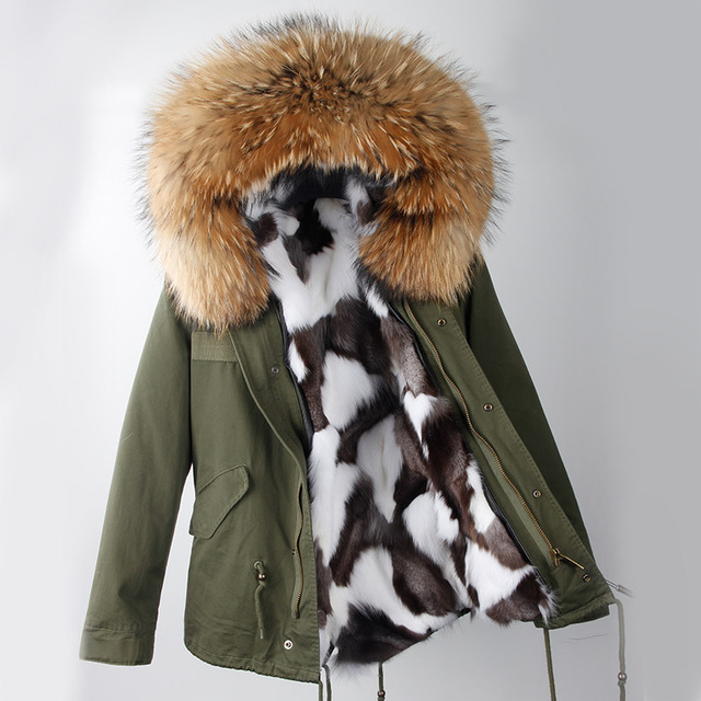 0df95cc0b US $241.2 46% OFF|Winter Jacket Women 2018 Army Green Parka Coats Real  Large Raccoon Fur Collar Fox Fur Lining Hooded Outwear Free DHL EMS-in  Parkas ...