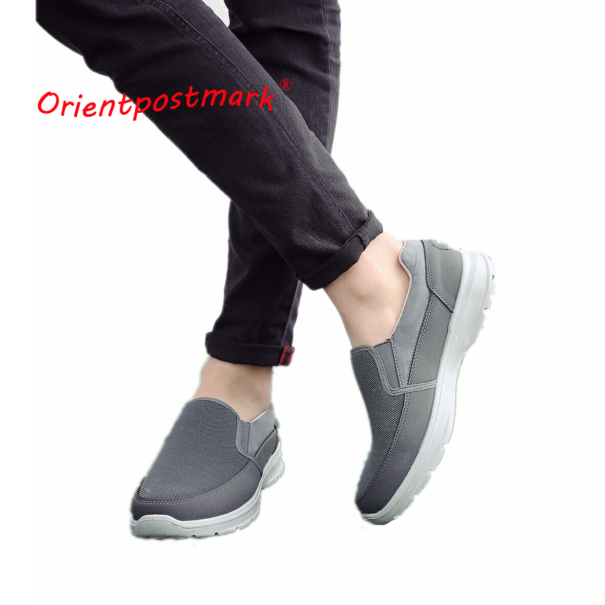 OrientPostMark Mens Shoes Seniors Casual Shoes Elderly Walking Flat Shoes Soft Comfortable Loose Driving Shoes Canvas Breathable e lov women casual walking shoes graffiti aries horoscope canvas shoe low top flat oxford shoes for couples lovers