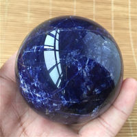 New Arrival! Natural Blue Sodalite Sphere Quartz Crystal Sphere Carving Gem Stone Ball healing