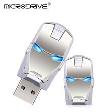 Iron Man Metal USB Stick Flash Drive 4GB 8GB 16GB 32GB 64GB 128GB Pen Drive