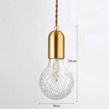 Modern G9 LED Pendant Lights Crystal Glass Hanging Lamp for Restaurant/Home Lighting