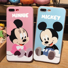 2017 mickey minnie donald daisy phone case for iphone 6 6s/6plus Cute cartoon Transparent Soft TPU Cover Coque Phone Back Cover