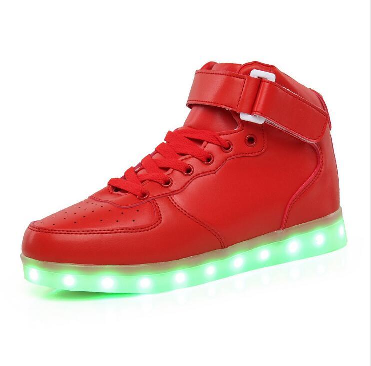 Качественная обувь 22,5 27 см; Детская обувь со светодиодными лампами; Кроссовки для мальчиков; Детская кожаная обувь; Обувь с мигающими светод