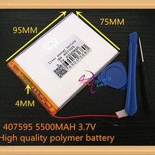 Аккумулятор 5500 мАч литий-ионный аккумулятор для планшетных ПК 7,8, 9 дюймов планшетный ПК ICOO 3,7 в полимерный литиевый аккумулятор высокого качества