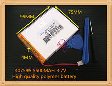 The New Battery 5500mAH Li-ion Tablet pc battery For 7,8,9 inch tablet PC ICOO 3.7V Polymer lithiumion Battery With High Quality(China)