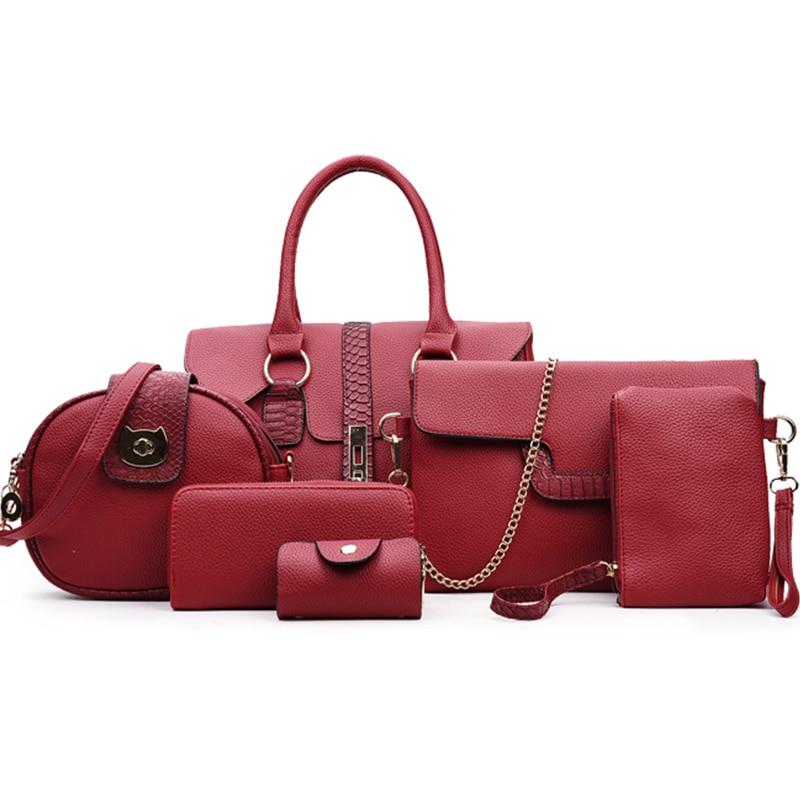 High Quality Ladies Composite Bag Six Sets Of Fashionable Women Shoulder Handbag Large Capacity Female Bags Designer Handbags high quality tote bag composite bag 2