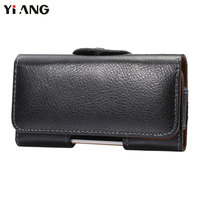 YIANG Second Layer Genuine Leather Waist Bag Waist Packs Fanny Pack Men Mobile Phone Bags Belt