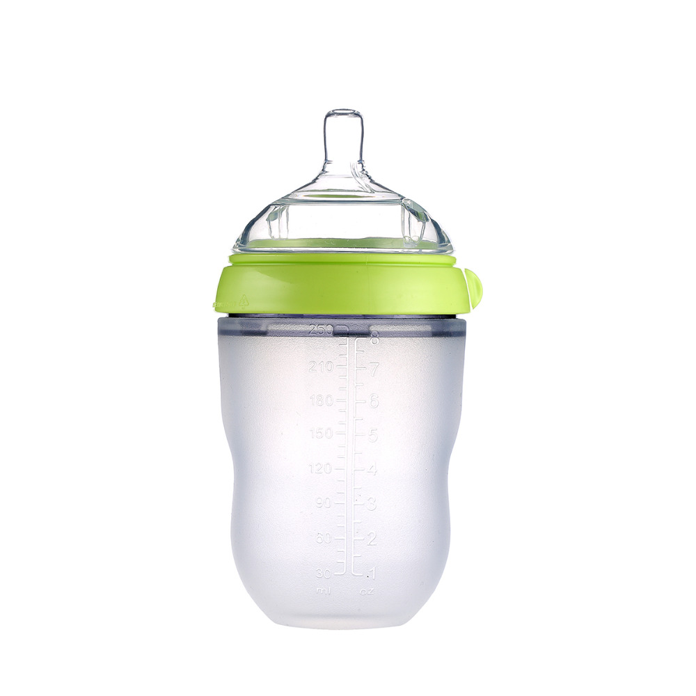 Silicone Baby Bottle baby milk silicone feeding bottle (Spoon bonus) bottle children mamadeira nipple bottle