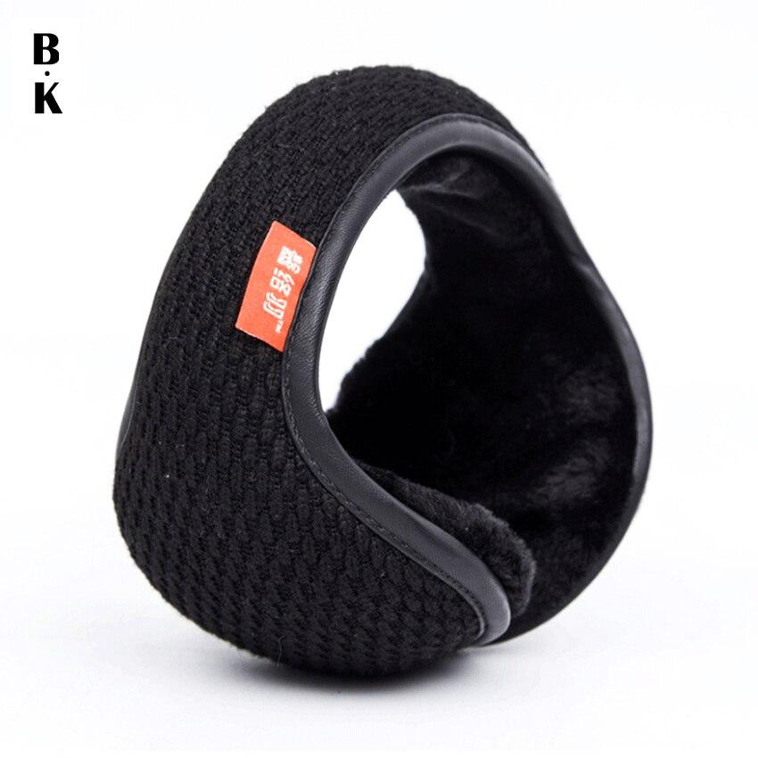 Orejeras tejidas de invierno para hombres mujeres calentadores de oreja bolsa de oreja ajustable cálido felpa orejeras