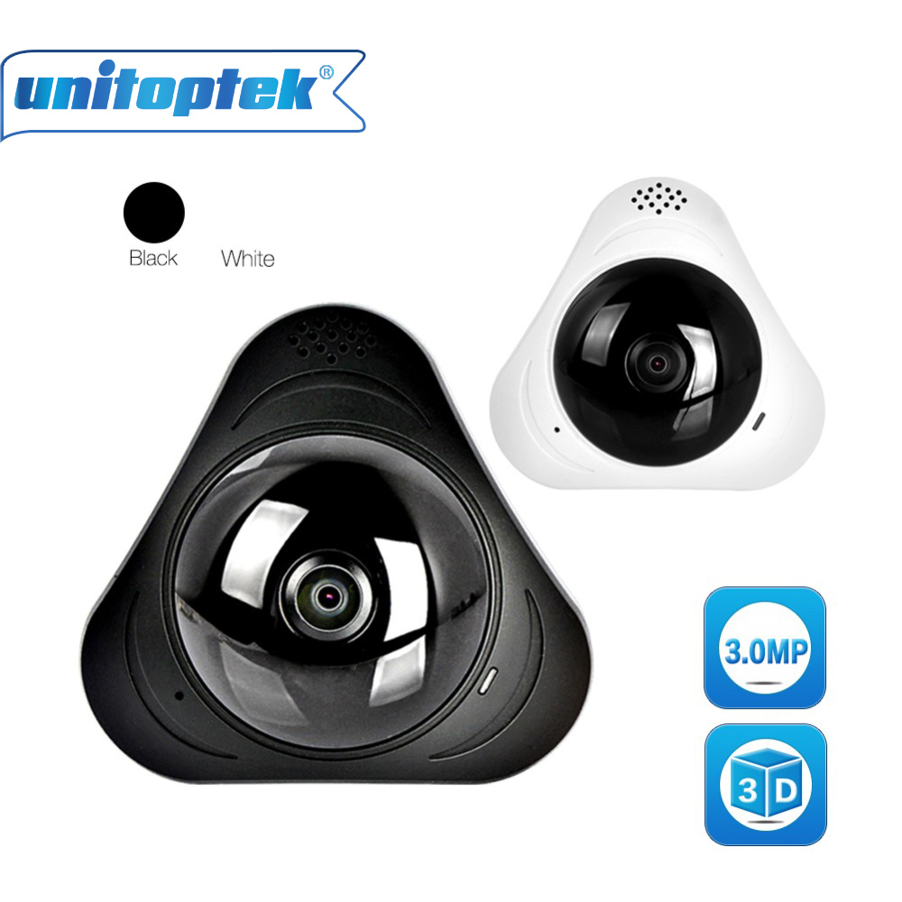 360 Degrees HD 3MP 3D VR WIFI IP Camera Panorama Baby Monitor Mini IP Cam Two Way Audio Home Security CCTV WI-FI Camera Android