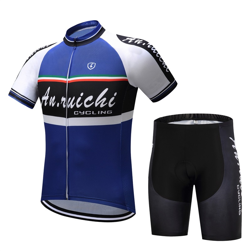 professional team suit Mens outdoor Riding Sports breathable fitness Short-sleeved Shorts roupas ciclismo equipes MAISAILY 2018