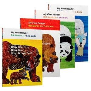 Image 2 - 4 Uds. Libro en inglés para niños mi primer lector Mini biblioteca: oso marrón, oso marrón, ¿qué ves? Educación popular libro