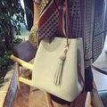MIWIND стиль моды все матч кисточкой ведро мешок женские сумки краткое одно плечо небольшой женская сумка многоцветный