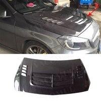 Класс углеродного волокна передний бампер кожухи двигателя крышка планки для Mercedes Benz A180 A200 A250 AMG A45 13 16