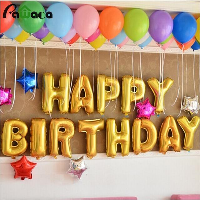 16 inch English Alphabet Balloon Set Birthday Party Happy Birthday