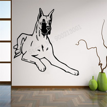 Great Dang Dog Wall Sticker HOme Decoration Vinyl Art Removeable Poster Mural Decals Decor Beauty Ornament Modern LY1120 цена и фото