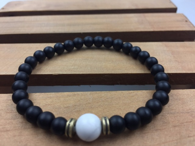 bracelet shiny beaded night striped masculine in mens s matte oxidized onyx pin dude men dark sterling silver black