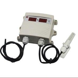 Temperatura e umidade sensor de 0-4 ~ 20mA 5V transmissor de temperatura e umidade display digital tubo chuva ao ar livre e neve.