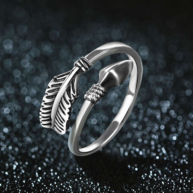 54e783f131b JIASHUNTAI 100% 925 Sterling Silver Rings For Women Cupid Arrow Design  Vintage Thai Silver Jewelry Open Ring For Lover Best Gift-in Rings from  Jewelry ...