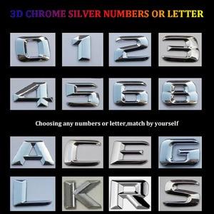 Image 3 - 3D Chrome W204 W205 Embleem C200 C250 C300 C350 C63 Cla Brief Auto Sticker Badge Logo Emblema Voor Mersedes mercedes Benz Amg