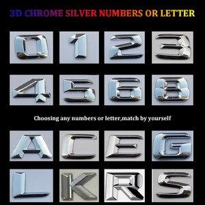 Image 3 - 3DクロームW204 W205 エンブレムC200 C250 C300 C350 C63 cla手紙自動車ステッカーバッジロゴemblemaためmersedesメルセデスベンツamg