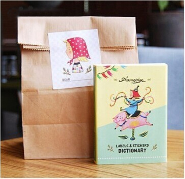 1Pcs Korean Creative Queen Dictionary Labels And Stamps Stickers Set Stationery H0689