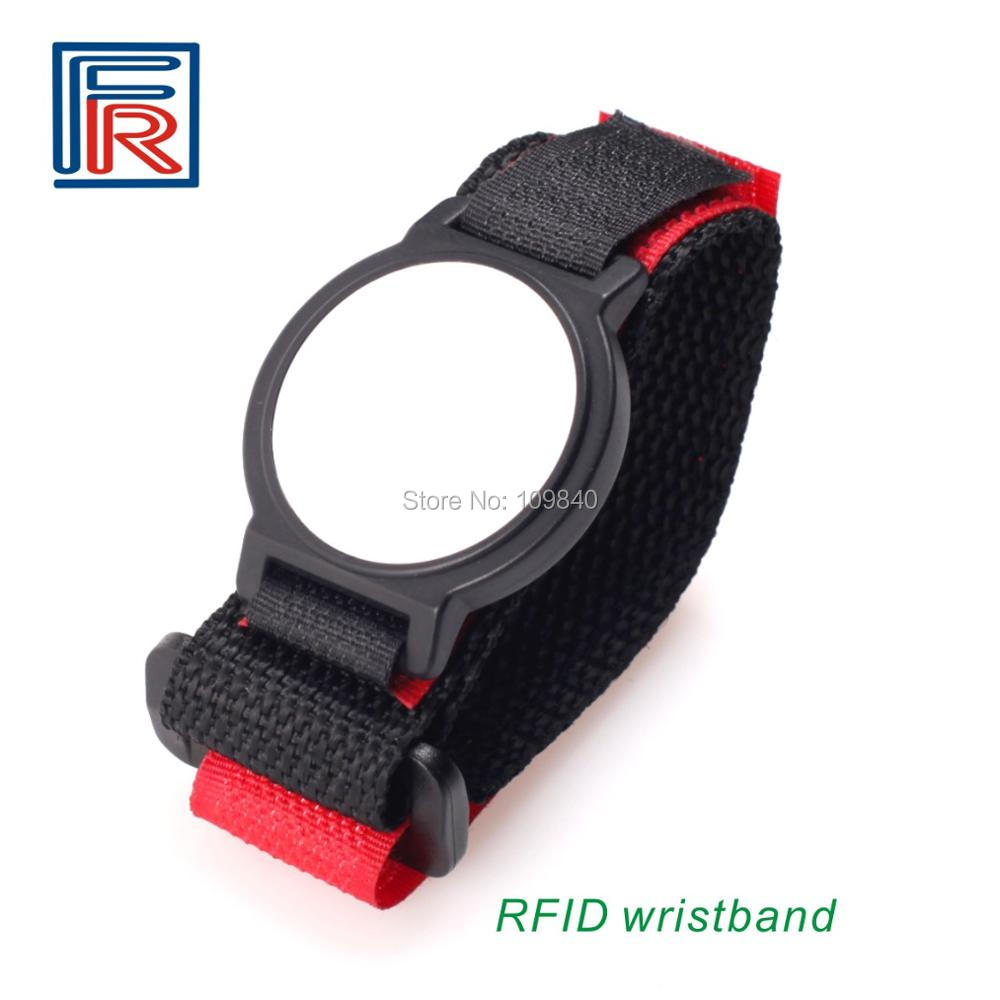 2019 13.56mhz Fudan M1 Nylon ISO14443A Rfid Wristband For Event Ticket With Payment 100pcs