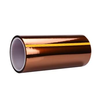 טמפרטורה גבוהה עמיד קלטת חום ייעודי קלטת Polyimide דבק קלטת 50mm 100mm 200mm x 33M עבור 3d מדפסת קלטת חלק