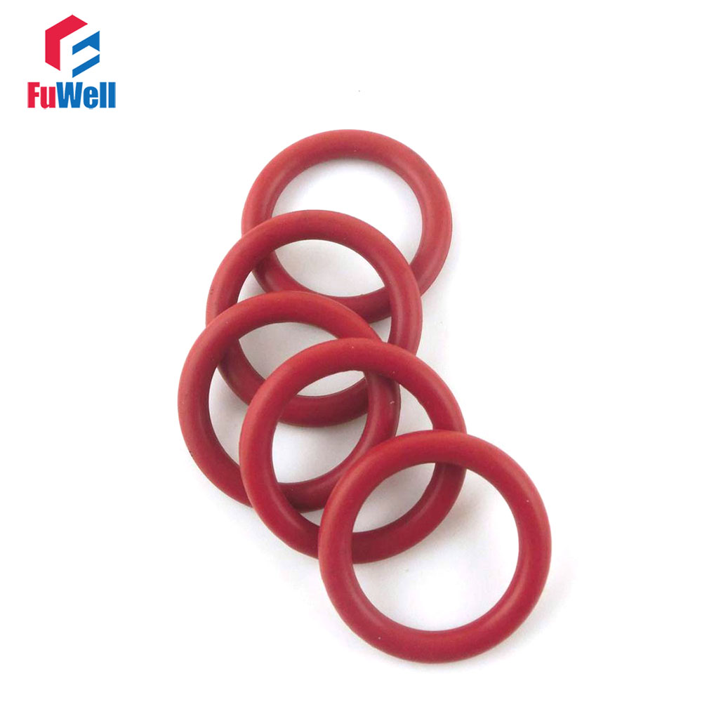 100pcs 2mm White Silicon Rubber O-Ring Seals Washer Food Grade OD 5-45mm