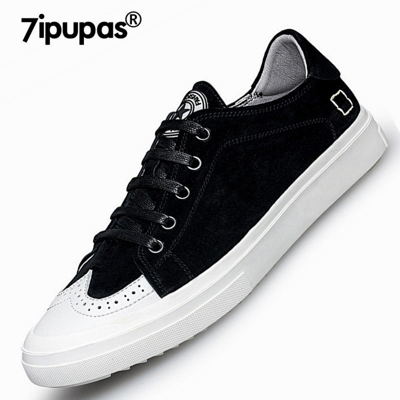 7ipupas British style suede Genuine leather shoes men casual Flats shoes Spring autumn lace up young male New pigskin men shoes men suede genuine leather boots men vintage ankle boot shoes lace up casual spring autumn mens shoes 2017 new fashion