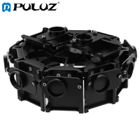 PULUZ 12 In 1 Housing Shell Set For GoPro HERO4 CNC Aluminum Alloy 20*20*8.5cm Protective Case+Screw For Go Pro HERO 3+