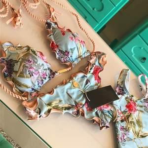 Women Swimwear Bandage Bikini Brazilian Flower-Print Mayokini High-Waist Biquini Push-Up