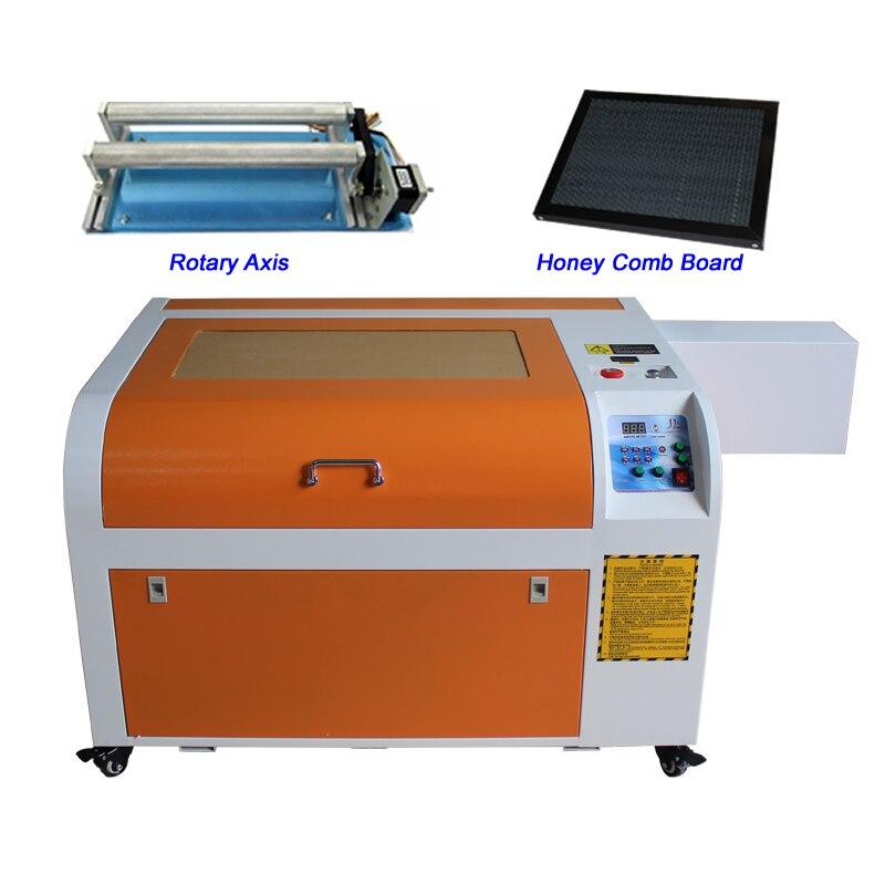 Machine de découpe de gravure Laser 60W CO2 CNC 6040 avec fonction numérique et Table en nid d'abeille