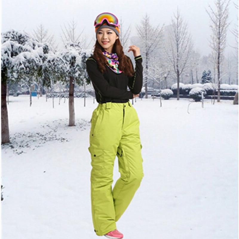 Prix pour Marsnow Marque Coupe-Vent Imperméable Respirant Double Couche Hiver Femmes Ski de Neige Dame Pantalon Épaissir Ski Snowboard Pantalon