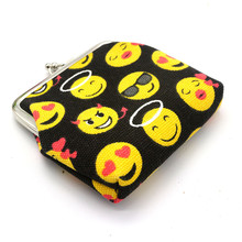 Womens Smiling Face Canvas Wallet Card Holder Coin Purse Clutch Handbag Bag Good Emoticon Bags Sac Minnie #YL10