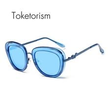 Toketorism Vintage lunettes de soleil femme luxe marque sunglasses polarized mirror lenses high fashion glasses 113