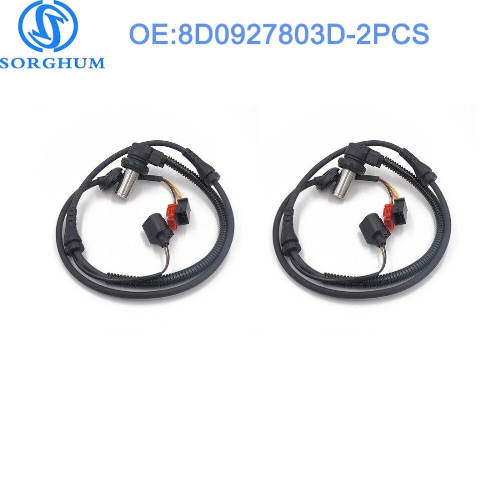 2pcs 8D0927803D Front ABS Wheel Speed Sensor For 2000 2004